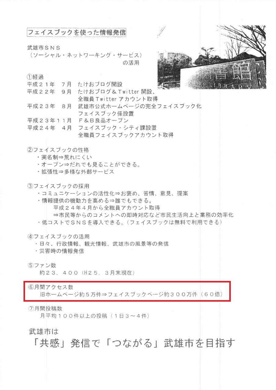 武雄市ホームページアクセス数